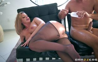 Dissolute blonde Brooklyn Chase getting her tight bum plowed dearly