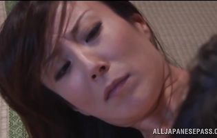 Sassy asian Reiko Sawamura has her perfect butt plowed by lad