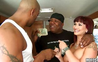 Dazzling Carrie Ann got bum fucked and sucked her hunk's packing monster until he cummed