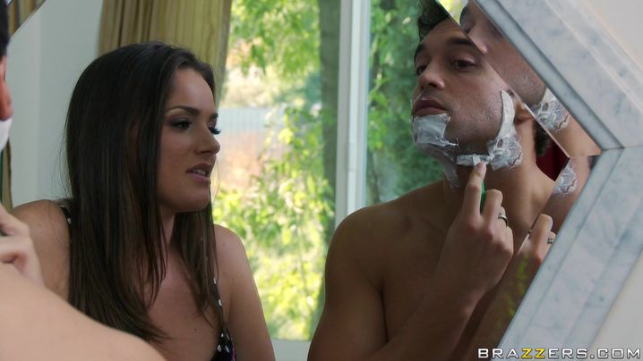 Wonderful beauty Tori Black with huge natural tits is getting bum fucked and creampied in front of the camera just for the fun of it