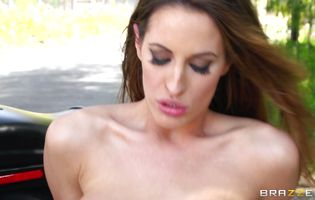 Remarkable Kortney Kane with great tits getting her soaking tight booty plowed hard