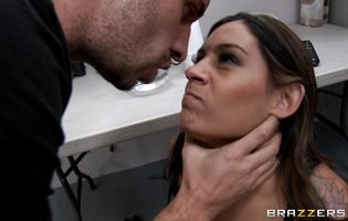 Doing mouthwatering Raylene's butt in the buddy so damn hard