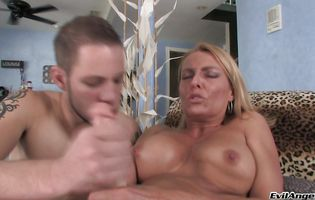 Overwhelming blonde Brenda James loves anal sex so much