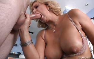 Enchanting blonde bombshell Phyllisha Anne intensely impales her bum on a stiff love rocket