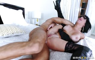 Stick loving naughty gal Veronica Avluv with huge tits is sucking a hard meat bazooka and getting it up her booty