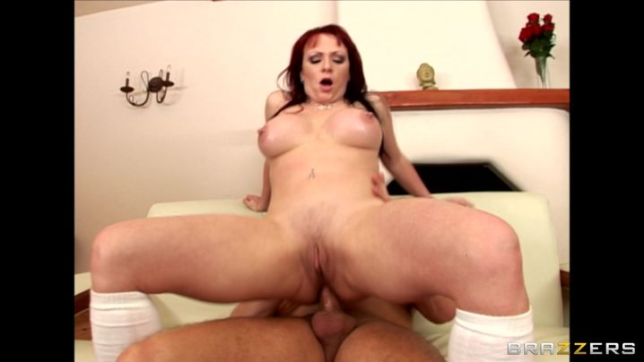 Overwhelming Kylie Ireland with big tits felt like screaming from pleasure while getting booty fucked but she tried not to