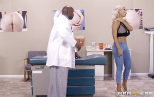Nasty blonde Bridgette B plays with her tight ass