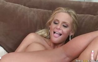 Magnificent blonde Phoenix Marie is enjoying while hunk is drilling her bum like an animal