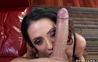 Tasty cougar Ariella Ferrera and buddy are trying out anal sex for the first time successfully