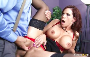 Racy woman Syren De Mer enjoys being mouth ass fucked by guy