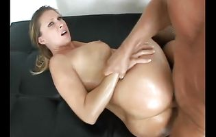 Shameless blonde Devon Lee with massive tits has her juce butt thoroughly ass banged