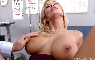 Lovable blonde Shyla Stylez is getting banged in the wide open ass from behind