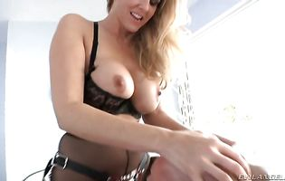 Lovely busty girl Julia Ann always wanted to have anal sex so now hunk decided to give it to her
