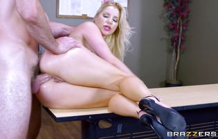 Sultry blonde Ashley Fires is smoking hot likes to get ass fucked on a daily basis