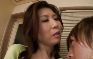 Enticing minx Nanako Yoshioka got her booty stuffed with a love rocket