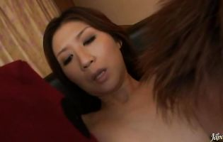 Ravishing eastern Nanako Yoshioka gets her booty drilled by a stiff dangler