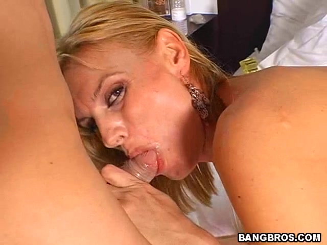 Inviting lady Darryl Hanah with huge natural tits is getting banged in the butt while rubbing her clit like crazy