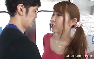 Pretty eastern Azumi Kinoshita got bum fucked hard by stud and enjoyed every single second of it