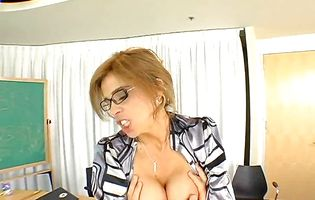 Busty Gabriela Rossi rapidly impales her slender bum on the hard boner