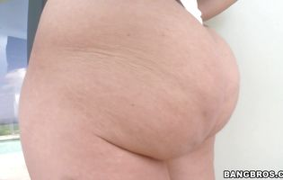 Pawg - Beautiful Kelly Divine with tight bum is riding a chopper
