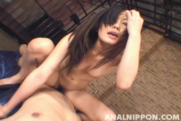 Lusty asian Yui Komine has her perfect booty licked before fucking