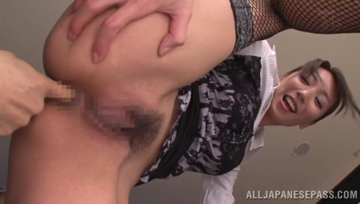 Nasty mature darling Reiko Sawamura knows her butt is better than a fake one