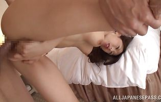 Tempting busty Ayumi Shinoda got butt fucked hard from the back and then she sucked fellow's boner