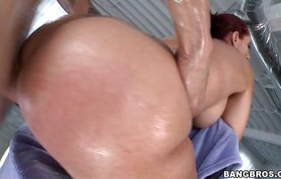 Wonderful minx Kelly Divine enjoys getting her copher banged and ass licked by a real anal expert