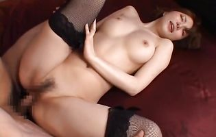 Filthy nipponese sweetheart Yuria Satomi gets her bum doggy styled hard