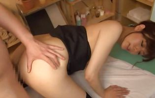 Raunchy asian Shizuka Kanno sells her round ass to a perverted lad