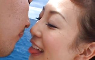 Playsome oriental housewife Mako Katase blows pussy tester and gets her delish bum hammered hard