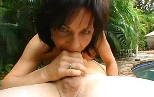 Charming brunette sweetie Deauxma can not have enough of a rock hard python deep inside her butt