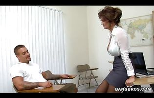 Admirable milf Deauxma with firm tits got fucked in the ass so hard that she started moaning from pleasure