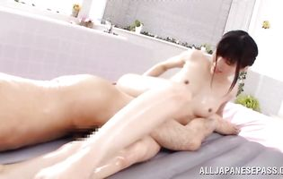 Salacious honey Chizuru Sakura and her slippery and tight butt
