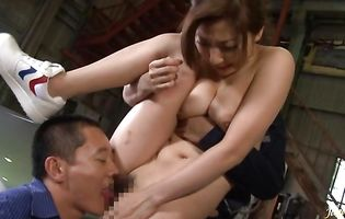 Skilled busty nipponese Mirei Yokoyama getting her tight bum ravaged dearly