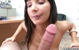 Filthy brunette bombshell Diana Prince loves being sodomized