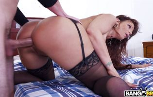 Delightful mom Syren De Mer bends over in front of the camera and gets fucked in the bum