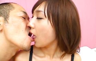 Romantic sweetheart Ryo Akanishi rips her panties to play with her bum